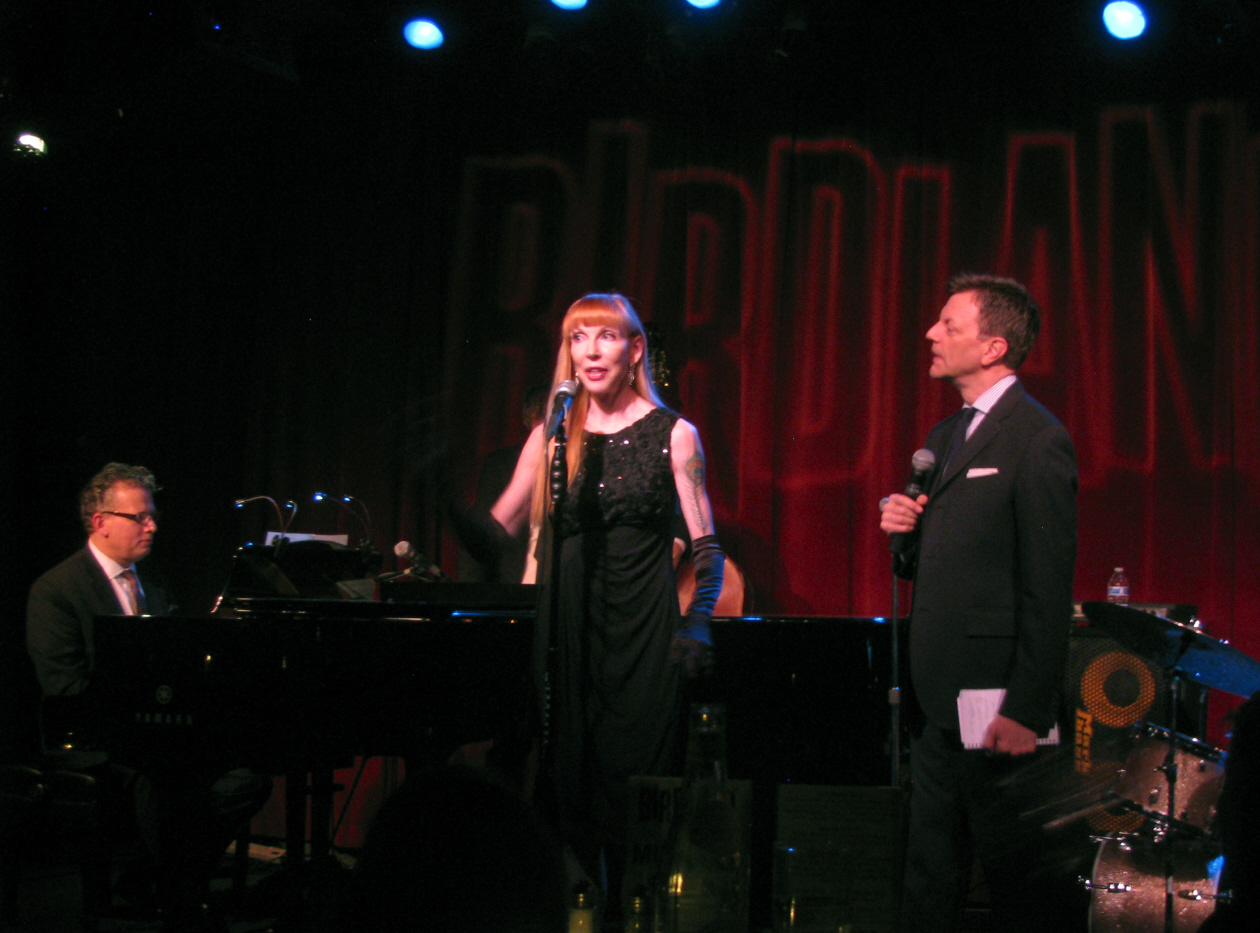 Laura at Birdland in NYC with Billy Stritch (piano) and