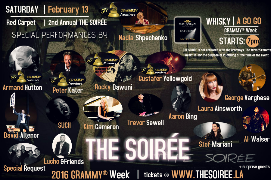 Lineup for The Soiree at the